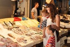 Am Fischmarkt Lizenzfreies Stockfoto