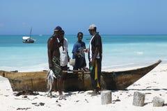 Fischmarkt auf dem Strand Lizenzfreies Stockbild