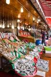 Fischmarkt in Hong Kong Stockbild