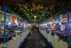 Fischmarkt in Manila, Philippinen stockfotos