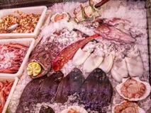 Fischmarkt in Marbella in Andalusien Süd-Spanien Lizenzfreies Stockbild