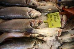 Fischmarkt-Stangen-Fische Stockfotos
