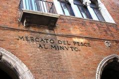 Fischmarkt Venedigs, Italien Lizenzfreie Stockfotografie