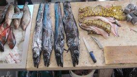 Fischmarktszene in Funchal Madeira stockbilder