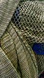 Brown fishnet in harbor of Palma de Mallorca. Meshwork stock image