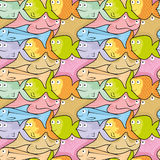 Fischpuzzlespiel Stockbild