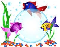 Fischreklameanzeige Stockbilder