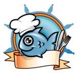 Fischrestaurantsymbol Lizenzfreies Stockbild
