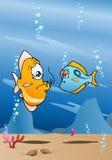 Fischschmerzen durch Fischereihaken Lizenzfreies Stockfoto