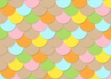 Fischschuppemuster, abstrakter Vektor auf Lager, Farbbeschaffenheit, helle Farbe, Stockbild