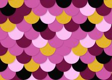 Fischschuppemuster, abstrakter Vektor auf Lager, Farbbeschaffenheit, helle Farbe, Stockfotos