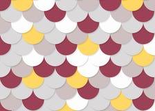 Fischschuppemuster, abstrakter Vektor auf Lager, Farbbeschaffenheit, helle Farbe, Stockfoto