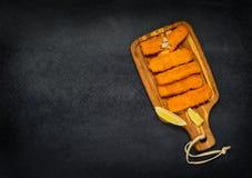 Fischstäbchen mit Kopien-Raum Lizenzfreie Stockbilder