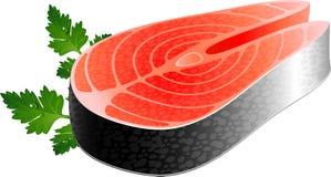 Fischsteak Stockfoto