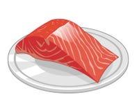 Fischsteak der Lachse lokalisierten Illustration Stockbild