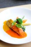 Fischsteak für Abendessen Lizenzfreie Stockfotos