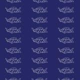Fischvektorillustration Blaues Wasser