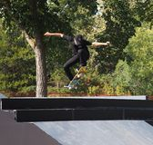 FISE Skateboarder in Edmonton Alberta Stock Fotografie