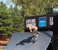 FISE Skateboarder in Edmonton Alberta Stock Foto's