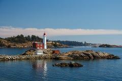 Fisgard灯塔,维多利亚,加拿大 免版税库存图片
