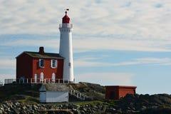 Fisgard latarnia morska, fortu Rodd wzgórza historyczny park narodowy, Wiktoria BC, Kanada Fotografia Stock