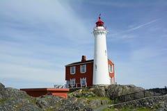 Fisgard latarnia morska, fortu Rodd wzgórza historyczny park narodowy, Wiktoria BC, Kanada Obrazy Stock