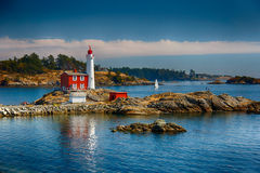 Fisgard Lighthouse. Is the oldest lighthouse on Canadas Westcoast, located in Victoria, Canada Royalty Free Stock Photo