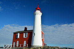 Fisgard lighthouse,Fort Rodd hill historic national park,Victoria BC,Canada Royalty Free Stock Photo