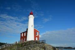 Fisgard lighthouse,Fort Rodd hill historic national park,Victoria BC,Canada. The Fisgard lighthouse at Fort Rodd Hill park,Victoria BC Royalty Free Stock Image