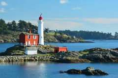 Fisgard lighthouse,Fort Rodd hill historic national park,Victoria BC,Canada Stock Photography