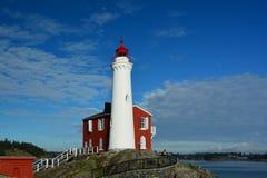 Fisgard lighthouse,Fort Rodd hill historic national park,Victoria BC,Canada. The Fisgard lighthouse at Fort Rodd Hill park,Victoria BC Royalty Free Stock Photo