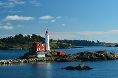 Fisgard lighthouse,Fort Rodd hill historic national park,Victoria BC,Canada. The Fisgard lighthouse at Fort Rodd Hill park,Victoria BC Stock Photos