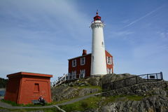 Fisgard lighthouse,Fort Rodd hill historic national park,Victoria BC,Canada Stock Photo
