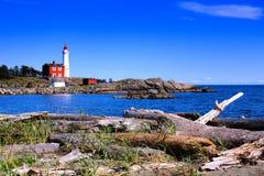 Fisgard Lighthouse National Historic Site near Victoria, Canada. Fisgard Lighthouse National Historic Site along the Pacific coast near Victoria, BC, Canada Royalty Free Stock Photo