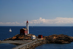 Fisgard lighthouse near Victoria , Vancouver Islan Stock Photography