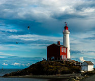 Fisgard Lighthouse. The Fisgard Lighthouse sits just outside Victoria Canada in British Columbia.  Absolute beautiful area and setting Stock Photography