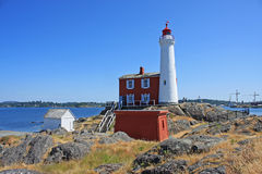 Fisgard Lighthouse Royalty Free Stock Photography