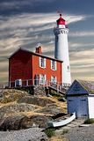 Fisgard Lighthouse, Victoria BC. This standing sentinel has watched over sea going travelers since 1860. The Fisgard lighthouse was the first built on Vancouver Royalty Free Stock Images