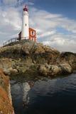 Fisgard Lighthouse, Victoria, British Columbia. Historic Fisgard Lighthouse located near Victoria, British Columbia overlooking the Strait of Juan de Fuca Royalty Free Stock Photo
