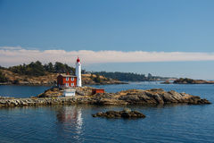 Fisgard Lighthouse, Victoria, Canada Royalty Free Stock Images