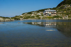 Fish湖,七个Rila湖, Rila山 库存图片