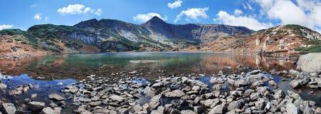 Fish湖-七个湖, Rila山,保加利亚之一 免版税库存图片
