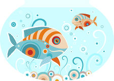 Fish. Vector illustration of a cute fish Stock Photography