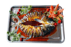 Fish. Tray of fresh raw fish royalty free stock image