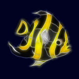 Fish. Abstract image of a stylised yellow and black fish Stock Illustration