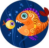 Fish. Vector illustration of a design fish Royalty Free Stock Images