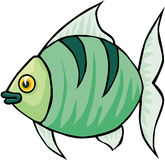 Fish. Cartoon artwork line-art Stock Image
