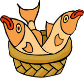 Fish. Cartoon artwork line-art Royalty Free Stock Photo
