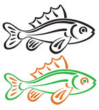 Fish. The figure shows a stylized fish Stock Images