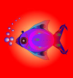 Fish. Colorful fish with air bubbles Royalty Free Stock Photos